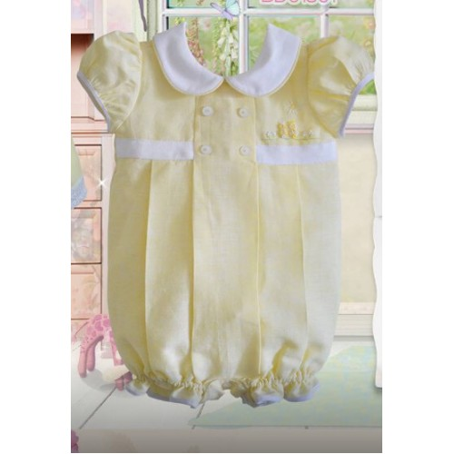BABY GIRLS LEMON ROMPER SUITE